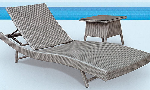 2-Piece Folding Sunbathing Lounge Chair