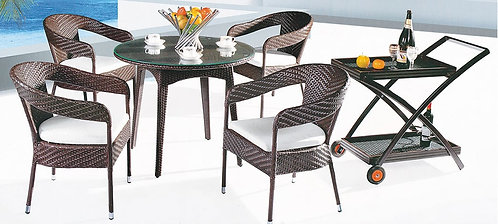 6-Piece Patio Table and Chairs Set