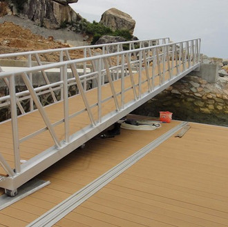 Gangway with Decking and Rollers