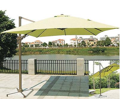 10 Feet Offset Easy Lift Square Outdoor Umbrella