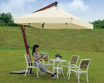 12 Feet Offset Wooden Outdoor Umbrella