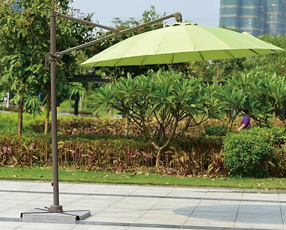 10 Feet Offset Easy Lift Round Outdoor Umbrella