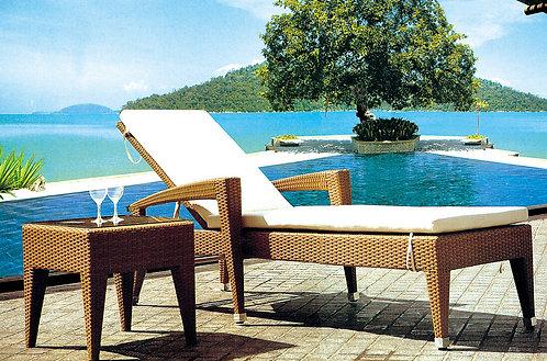 2-Piece Folding Sunbathing Lounge Chair