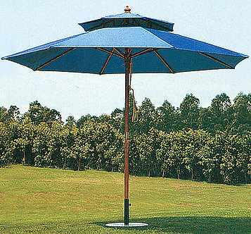 10 Feet Outdoor Umbrella Wooden Pole With Vent
