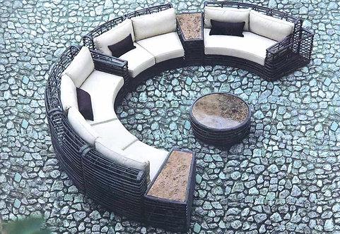 7-Piece Circular Outdoor Sofa Set