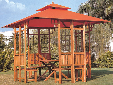 10 Feet by 12 Feet Wooden Gazebo