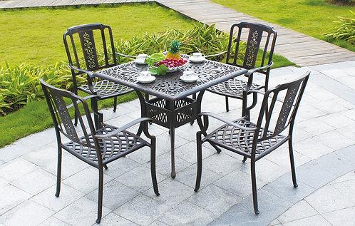 5-Piece Decorative Aluminum Dining Set