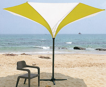 8 Feet Upside Down Umbrella Aluminum Pole Polyester Top