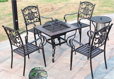 5-Piece Barbecue Aluminum Dining Set