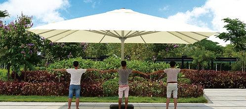 Giant 16 Feet Outdoor Umbrella Aluminum Pole Polyester Top
