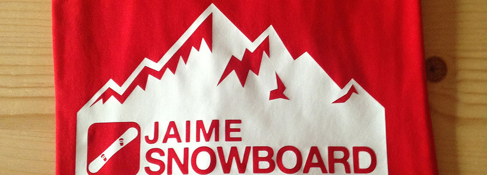 camiseta snowboard roja/blanca fhsince