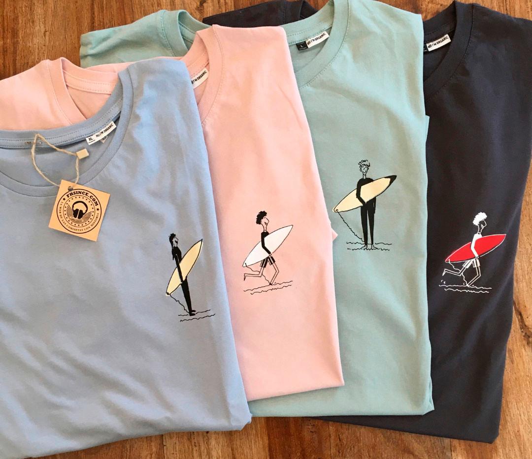 camiseta personajes surfer colores fhsince
