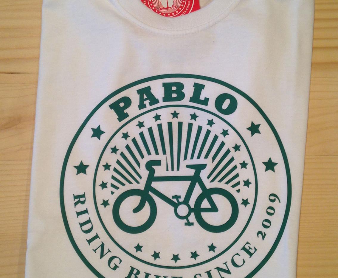 camiseta ciclista blanca/verde fhsince