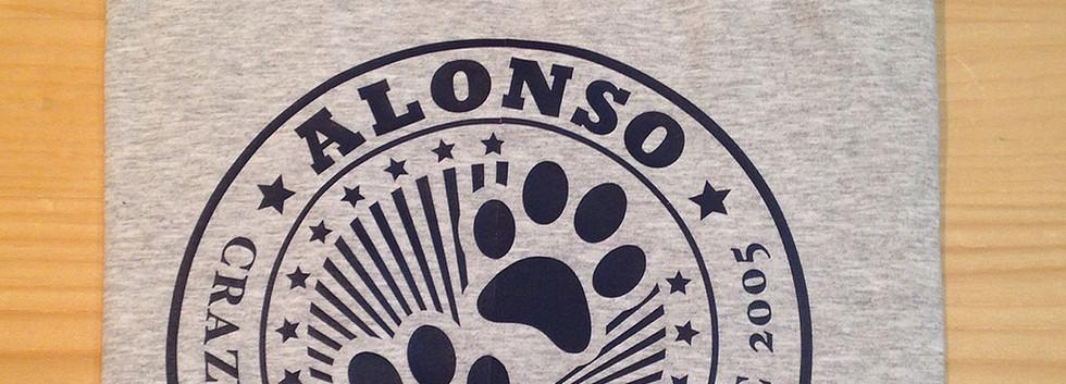 camiseta clásica gris/azul marino fhsince