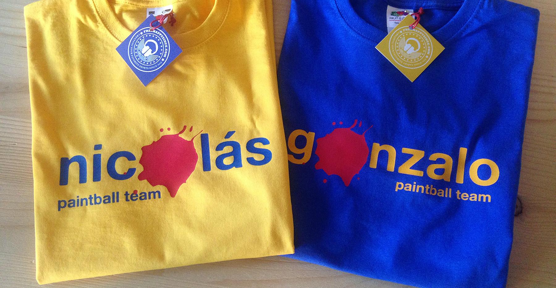 camisetas invertidas amarillo/azul fhsince
