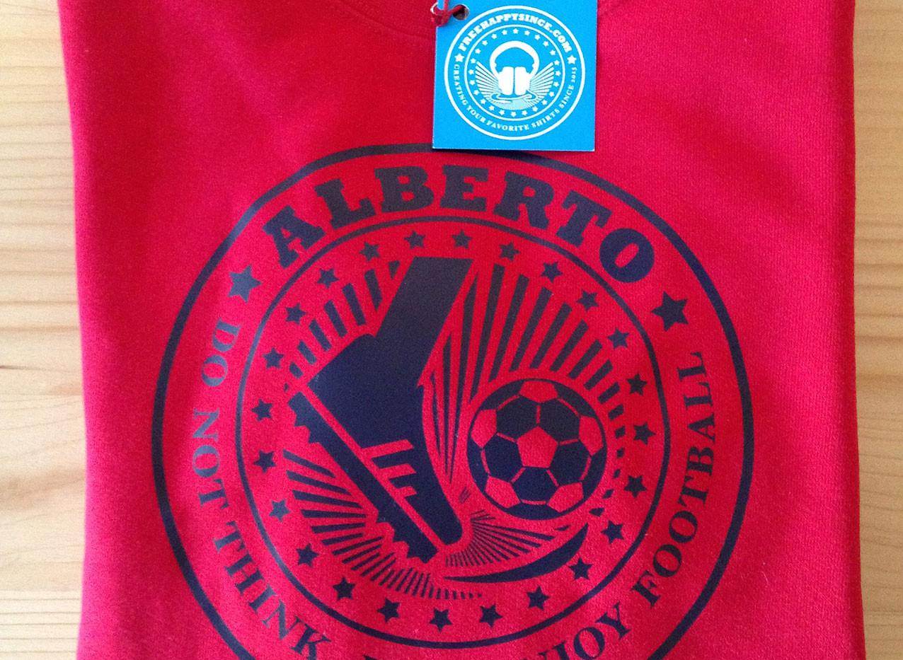 futbol fhsince roja/azul marino