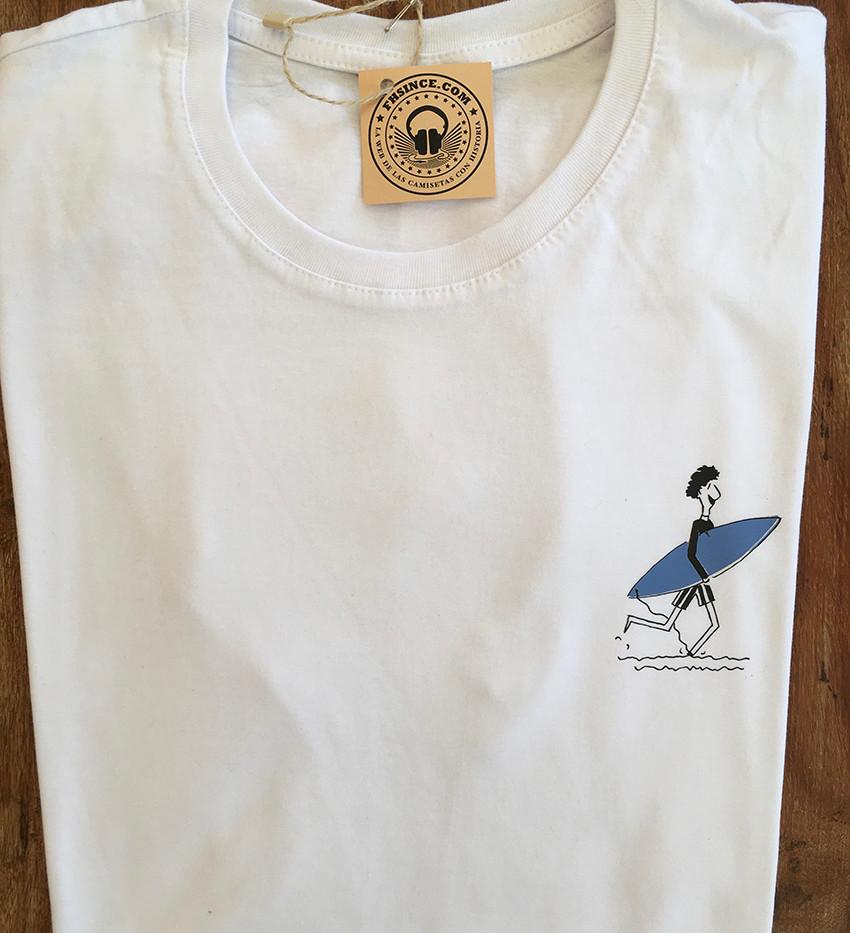 camiseta personajes surfer blanco/azul grisaceo fhsince