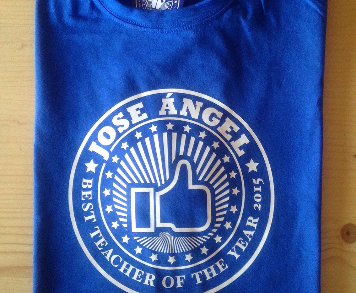 Camiseta mejor profe azul royal fhsince