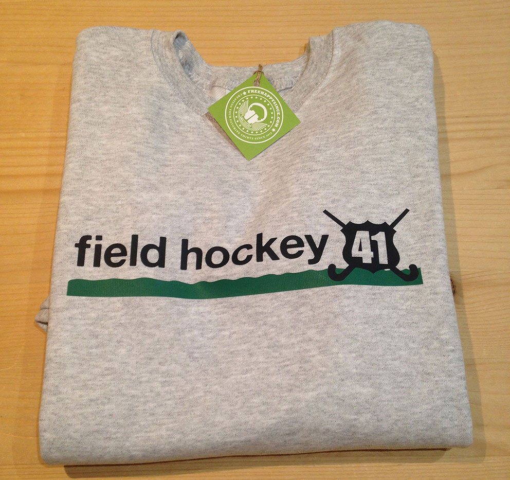 field hockey gris/verde-negro