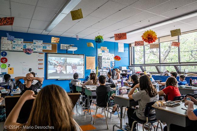 La vie est musique version virtuelle à l'école Saint-Marcel