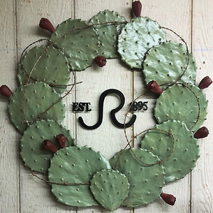 CUSTOM LOGO CACTUS WREATH