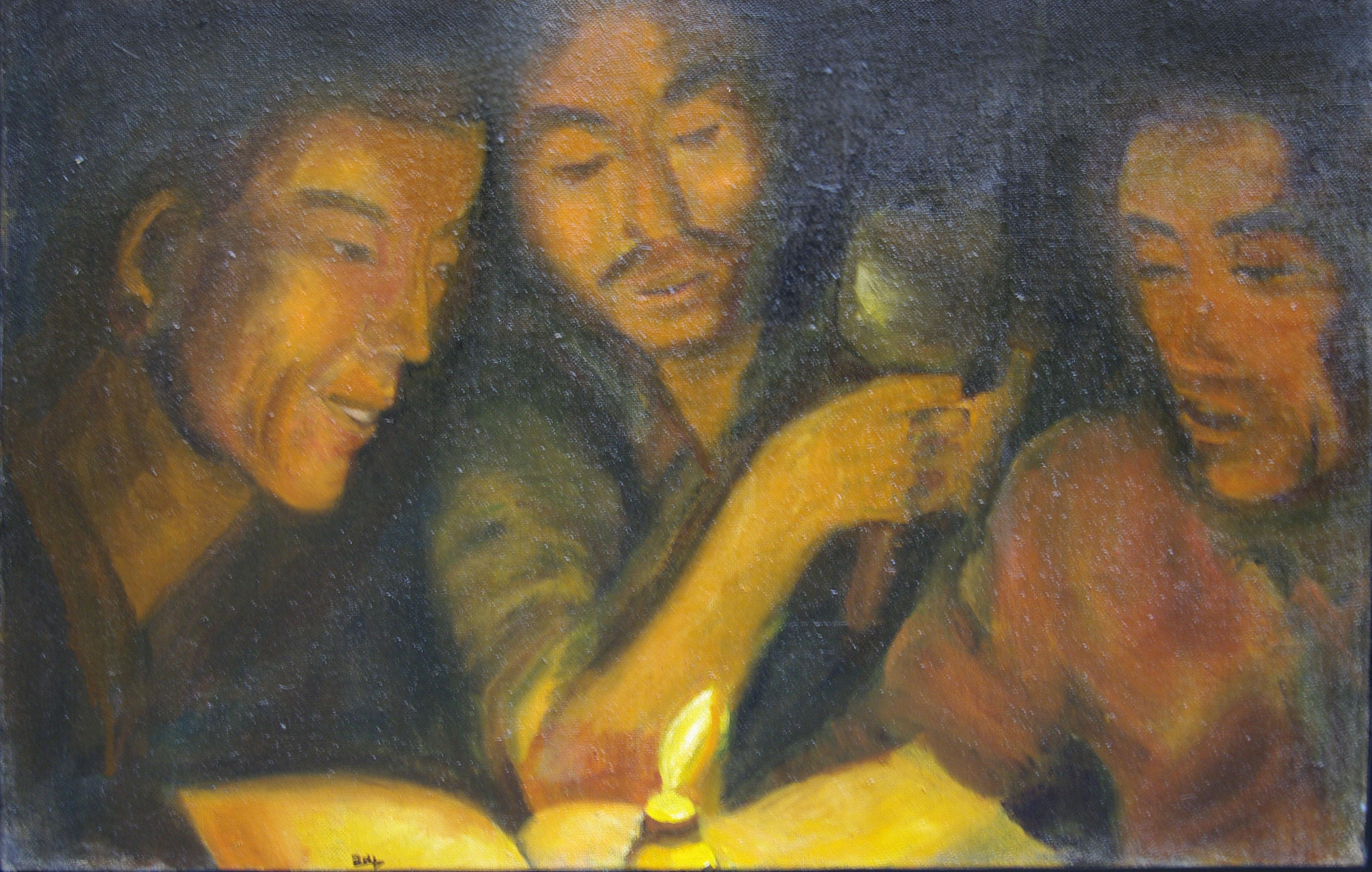 Les tibétains 40 x 80