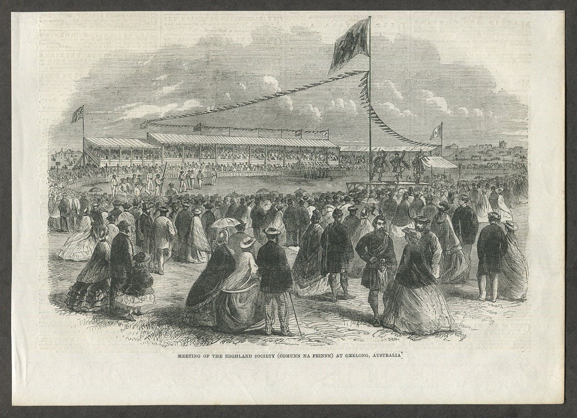 Highland Games in Geelong, 1857