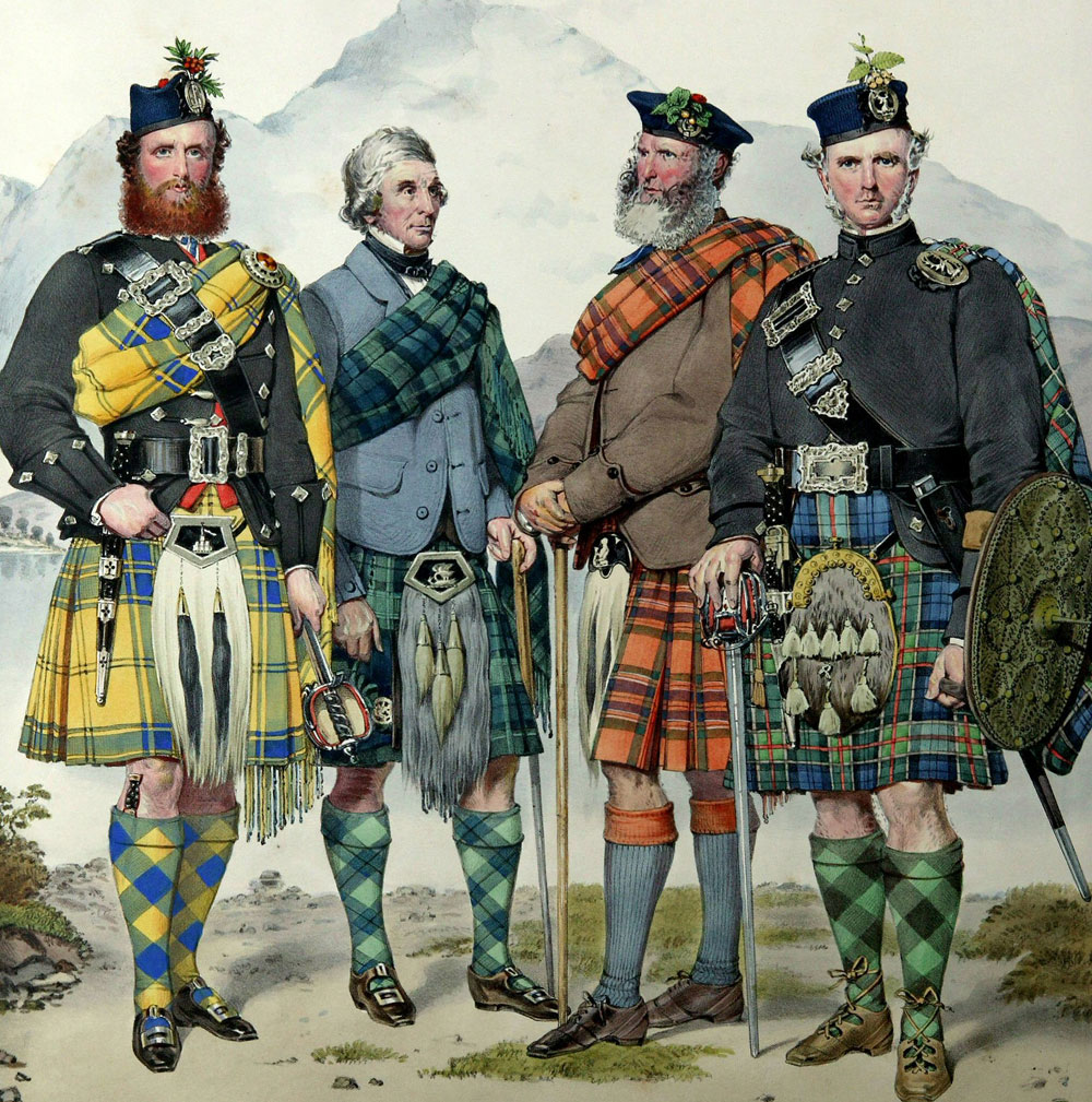 Kilt attire from the last century