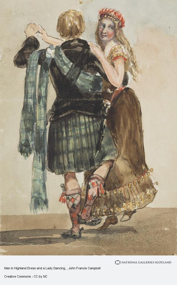 Man in Highland Dress and a Lady Dan