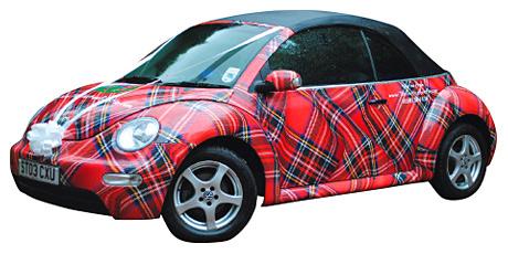 Tartan Volkswagen Beetle