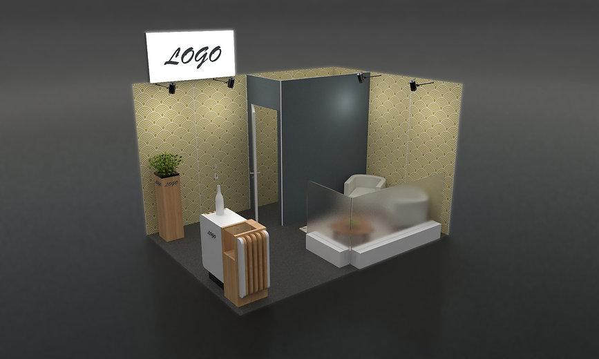 Stand 12m² standard + décoré