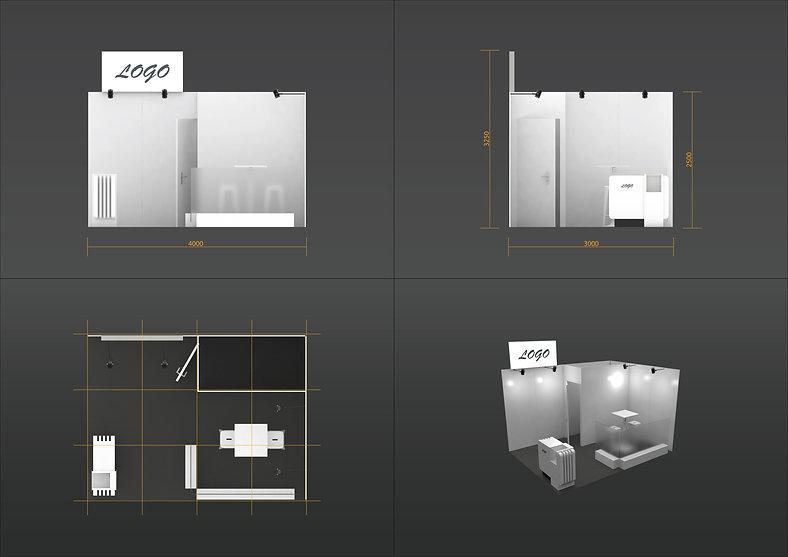 Plan stand 12m² standard +