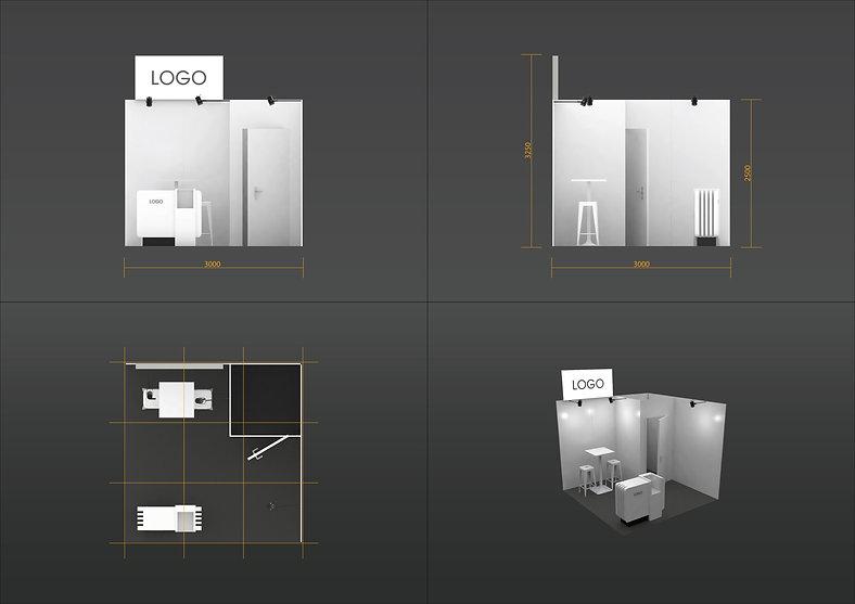 Plan stand 9m² standard