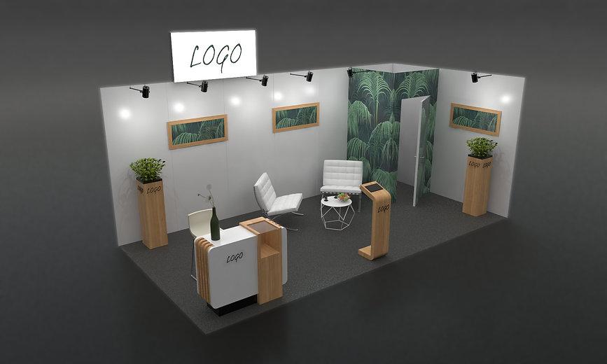 Stand 18m² standard décoré