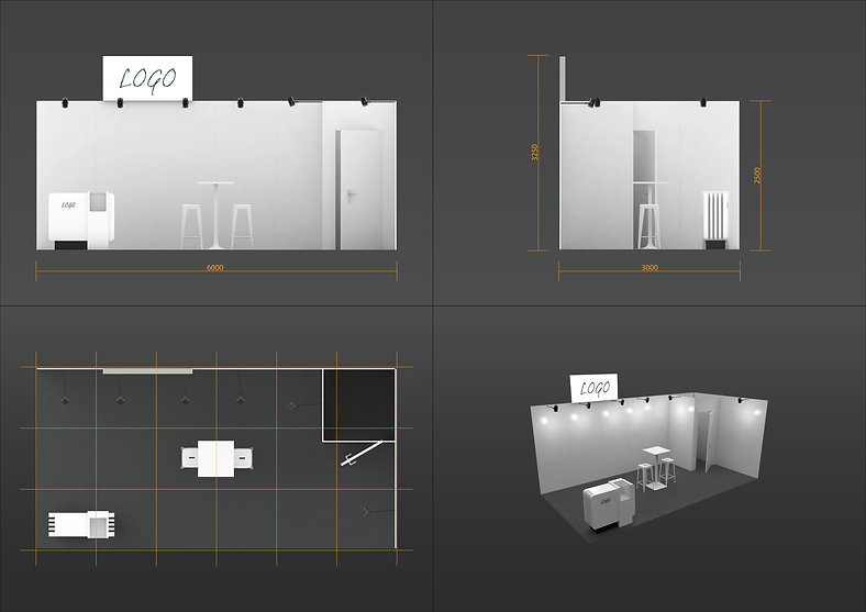 Plan stand 18m² standard
