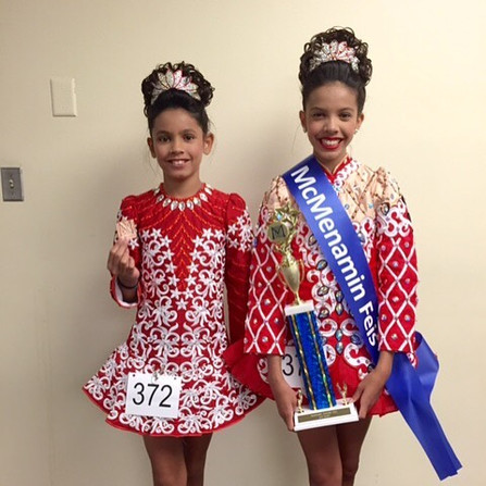 Kaitlin and Shannon at the Milwaukee Feis