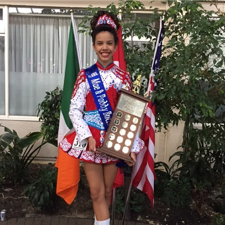 Shannon- Treble Reel Champion at the Mae&Paddy Butler Feis