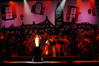 """Set design for Children's Musical TheatreWorks Fresno's production of """"Jekyll and Hyde."""" 2012."""