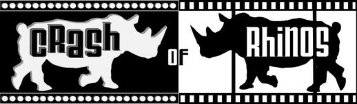 Logo design for Crash of Rhinos film studio. 2013.