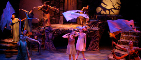 """Set and puppet design for Fresno State's production of """"Tales of Ovid"""" 2010."""