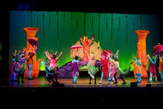 """Set design for """"The Little Mermaid Jr."""" at Children's Musical TheatreWorks Fresno. 2011."""