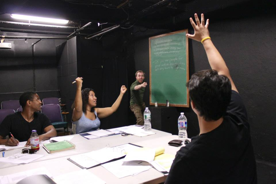Inspiring new actors as a faculty instructor of the National Conservatory of Dramatic Arts. 2013.