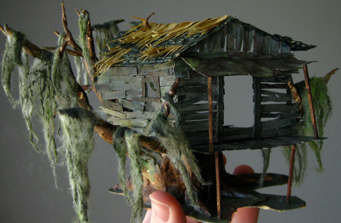 """Scale model set design for a new musical adaptation of """"Wiley and the Hairy Man."""" 2010."""