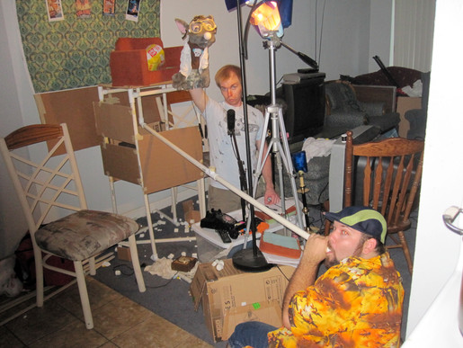 """Behind the scenes from an episode of """"Ratflix"""" on youtube. 2010. """"We are very professional..."""""""