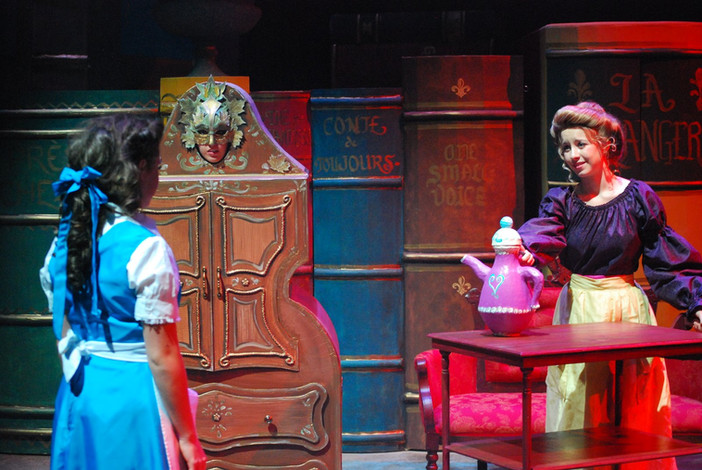 """Set and puppet design for StageWorks Fresno's production of """"Beauty and the Beast Jr."""" 2011."""