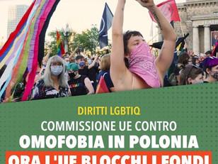 DIRITTI LGBTIQ VIOLATI, ORA L'UE BLOCCHI I FINANZIAMENTI ALLA POLONIA