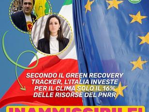 ALTRO CHE 37% PER IL CLIMA. NEL PNRR ITALIANO SOLO IL 16%.