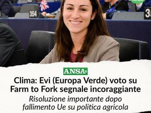 ADOTTATA RISOLUZIONE SU FARM TO FORK AL PARLAMENTO UE