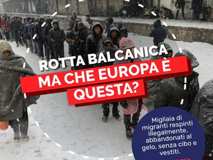 ROTTA BALCANICA: MA QUALE EUROPA E' QUESTA?