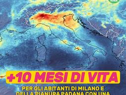 LOMBARDIA. 10 MESI DI VITA IN PIU' SE SI RISPETTASSERO I LIMITI DI INQUINAMENTO DELL'ARIA.